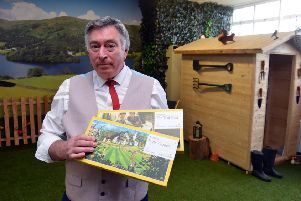 Ocean Choices new dementia friendly garden room for the service users. Martin Wray with scent boxes
