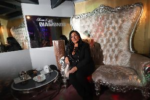 Club owner Kerrie Katopodis inside one of her venues, House of Diamonds, in South Shields. Picture: Kevin Ho.