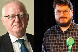 (L-R) Wilf Flynn (Labour) and Matthew Giles (Green Party)