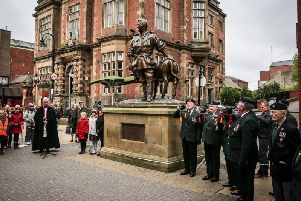 A previous Anzac Day memorial service in South Shields