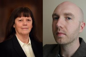 (L-R) Judith Helen Taylor (Labour Party) and Peter James Bristow (Green Party)