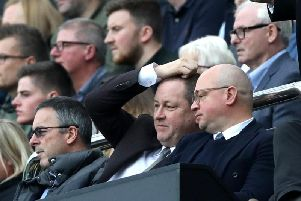 Justin Barnes, Mike Ashley and Lee Charnley.