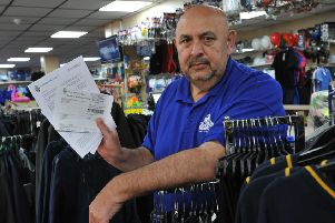 Business owner Ahmed Khan, disputing business rates with South Tyneside Council.