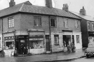 Wenlock Road shops in December 1955.