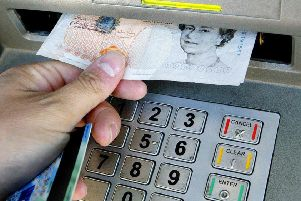 A cash machine. Picture by PA