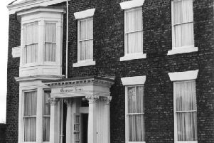 "The ""brightened up"" exterior of Grosvenor Rooms in Woods Terrace in  November 1971 ."