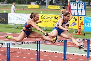 Lucy Turner (left) in action