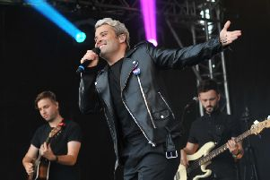 Joe McElderry performing at last year's Chloe and Liam Together Forever concert in South Shields.