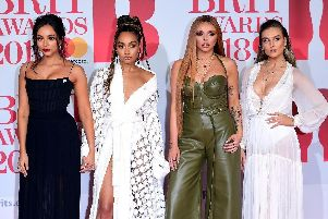 Little Mix at the Brit Awards. Picture: PA.