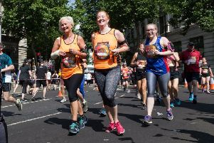 Helen and her daughter Ella at the 10k