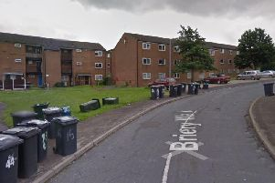 Firefighters were called out to Breiry Walk in Greasbrough