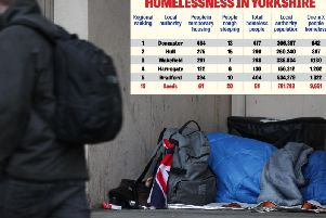 The top five homeless hotspots and how Yorkshire's largest city compares.