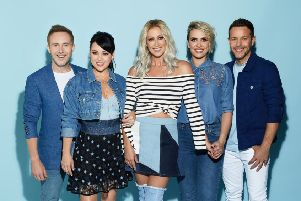 Steps are Ian 'H' Watkins, Lisa Scott-Lee, Faye Tozer, Claire Richards and Lee Latchford-Evans. The pop band will be performing at Doncaster's Keepmoat Stadium as part of their twenty year anniversary tour.