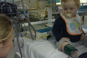 William on the day of diagnosis