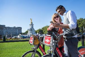 Santander Cycles are a great way to visit London landmarks