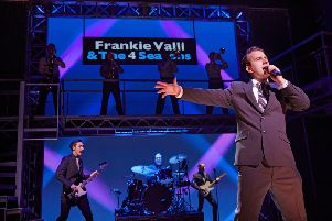Michael Watson (Frankie Valli) in the UK tour production of Jersey Boys.