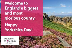 One of the adverts set to appear on billboards across Yorkshire and beyond today.
