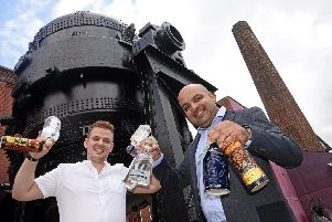Chris Hague, Roister Operations Manager and Vic Bains, Roister Owner, pictured at Kelham Island Museum, where they have revived the cancelled Gin Festival.