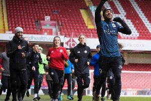 Kell Brook hosts a run around Sheffield United's Bramall Lane with members of the public in February