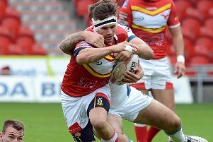 James Davey in action for Sheffield Eagles