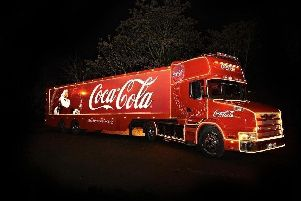 The Coca-Cola truck is coming to Doncaster next week.