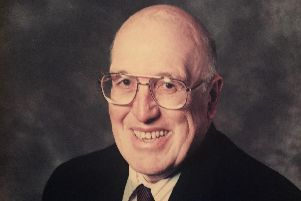 Former Hungerhill headteacher Tom Hughes who has died at the age of 92.