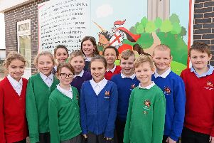 Conisbrough Ivanhoe Primary Academy have different coloured jumpers for different categories, Purple Jumpers for Reading champions, Green Jumpers for School Council members, Red Jumpers for pupils with 100% attendance and Blue Jumpers chosen by Year six children. Picture: NDFP-12-02-19-IvanhoePrimary-4