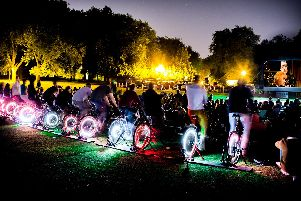 Electric Pedals: Bicycle Powered Cinema at Pugneys Country Park tonight. Photo: www.electricpedals.com