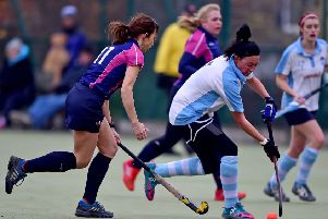 Kim Sharples capped a player-of-the-match performance by scoring the winning goal as Batley Ladies defeated Northallerton to move up to third place in the Yorkshire Hockey Assocaition Division Four West. Picture: Paul Butterfield