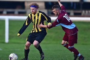 Lewis Collinson maintaiend his fine scoring run as he was on target in Norristhorpe's 3-2 victory over Morley Town Reserves, which maintains their promotion challenge in Yorkshire Amateur League Division Two. Picture: Paul Butterfield