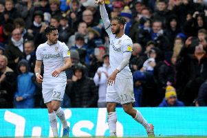 Leeds United goal scorers against QPR Tyler Roberts and Jack Harrison celebrate. Picture: Simon Hulme