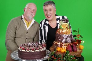 Karen and Terry with their cake creations