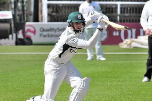 Tom Kohler Cadmore on his way to his fifty for Worcestershire (Picture:' Jonathan Barry/Worcester Evening News)