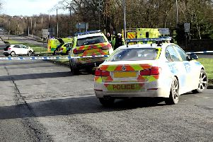 The scene of the crash on Halifax Road, Scholes (Picture by Stuart Black)