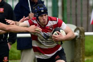 Brad Marsden romped away for a try from 45 metres out and shared man-of-the-match as Cleckheaton earned a crucial victory over Morley in North One East. Picture: Paul Butterfield