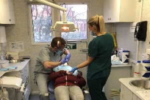 Dental Team: The charity Dentaid will be hosting three clinics in its mobile unit.