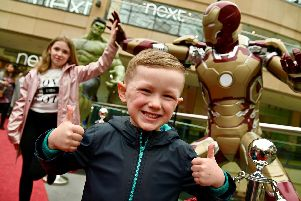 Superheroes assemble at Xscape Yorkshire (photo - Trinity Leeds)