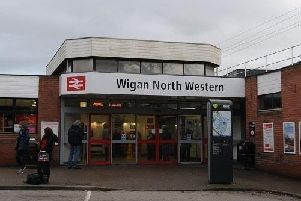 Wigan North Western station where the bizarre offence took place