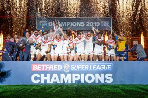 St Helens - Betfred Super League champions 2019. Picture:b SWPix