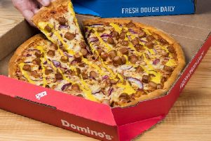 The New York Hot Dog pizza