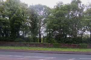 The site of the proposed access road