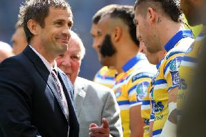 Steve was guest of honour at the 2010 Challenge Cup Final  between Leeds 'and Warrington. Picture: SWPix