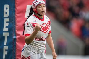 St Helens women's Emily Rudge. Picture: SWPix