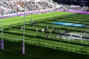 St Helens taking on Warrington at a previous Magic Weekend in Newcastle