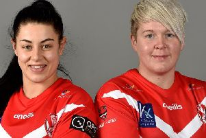 Emily Rudge (left) and Gemma Walsh