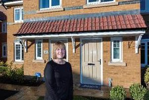 Emma Mather outside her home in Eccleston Grange