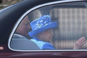 The Queen as she arrived at the Palace of Westminster.