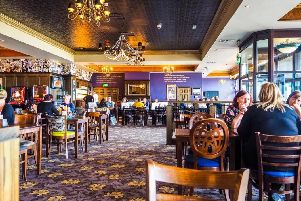Inside a typical Wetherspoons pub