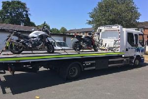 The bikes seized by police
