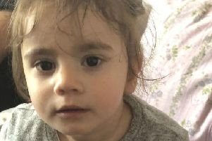 Maria Tudricai, a 17-month-old girl who was inside her father's black Audi car when it was stolen in Newham, east London